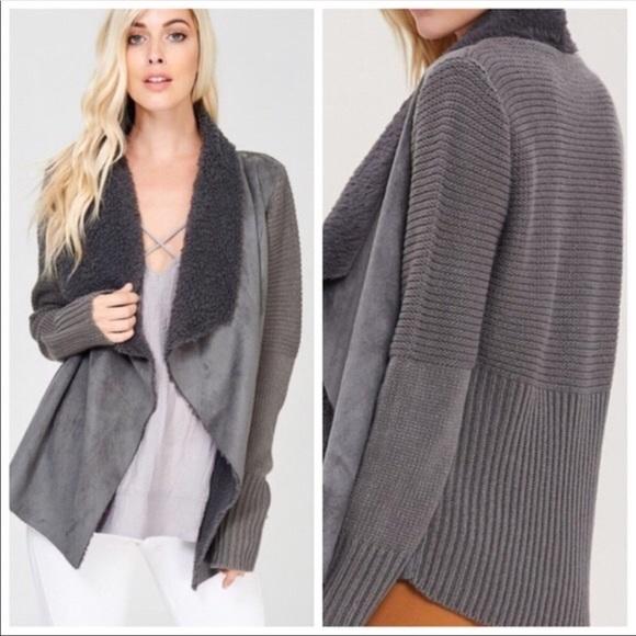 Kala Vella Sweaters - NEW!❗️LAST ONE❗️FAUX FUR CARDIGAN